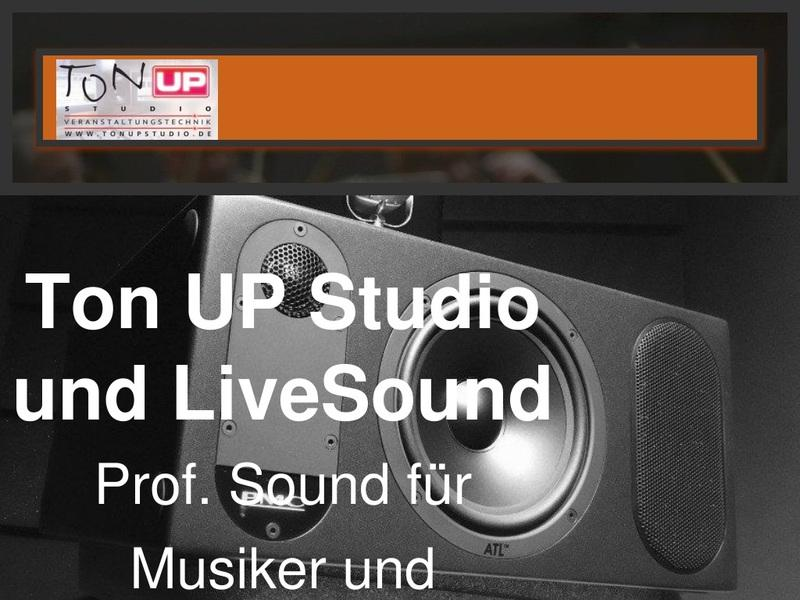 Screenshot von https://www.tonupstudio.de